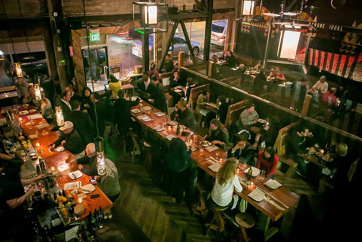 Diners enjoy dinner at Duende restaurant in Oakland, Calif., on Thursday, March 7th, 2013.
