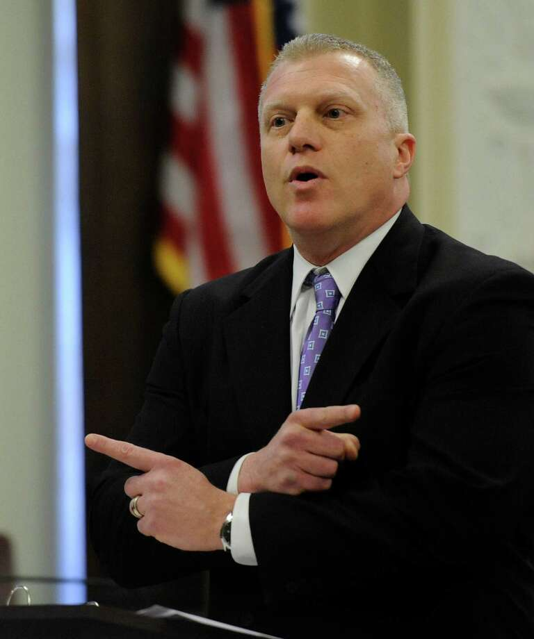 Special Prosecutor Trey Smith presents his final summation in the ballot fraud case in the Rensselaer County Courthouse in Troy, N.Y. March 2. 2012.  (Skip Dickstein / Times Union) Photo: SKIP DICKSTEIN / 2011