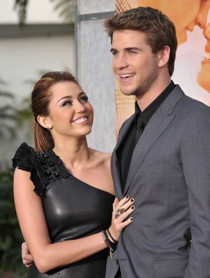 Actress Miley Cyrus and actor Liam Hemsworth arrive to The Last Song Los Angeles Premiere at ArcLight Hollywood on March 25, 2010 in Hollywood, California. Photo: John Shearer, WireImage / 2010 WireImage