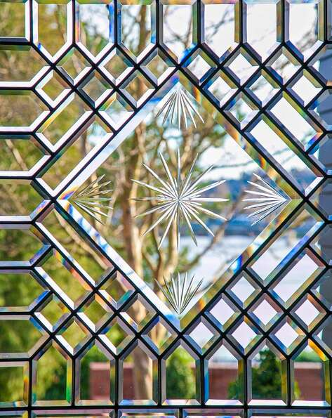Leaded glass detail of