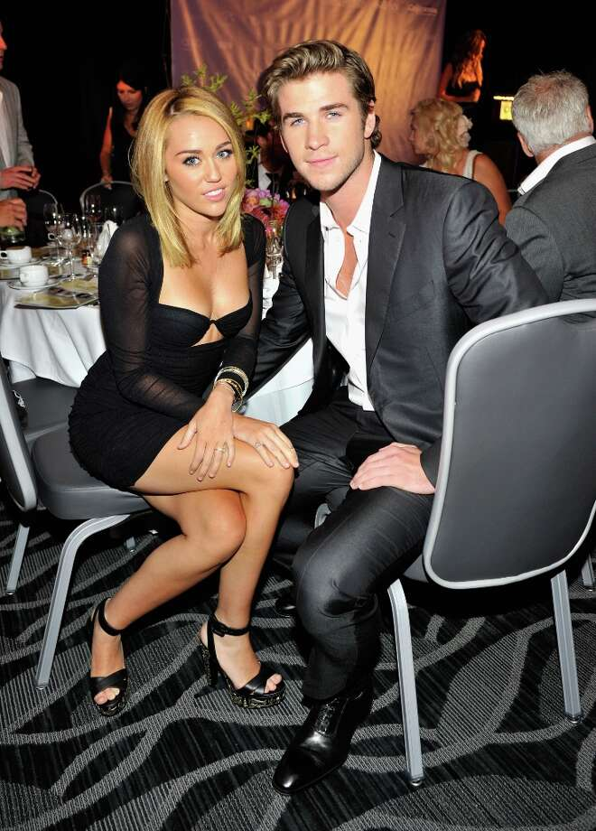 Miley Cyrus and Liam Hemsworth attend Australians In Film Awards & Benefit Dinner at InterContinental Hotel on June 27, 2012 in Century City, Calif. Photo: Toby Canham, Getty Images For AIF / 2012 Getty Images