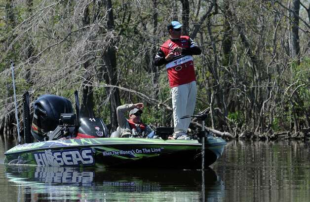 Angler Cliff Pace fishes a cut during the 2013 Bassmaster Elite Series Sabine River Challenge on Thursday, March 14, 2013. Photo taken: Randy Edwards/The Enterprise Photo: Randy Edwards