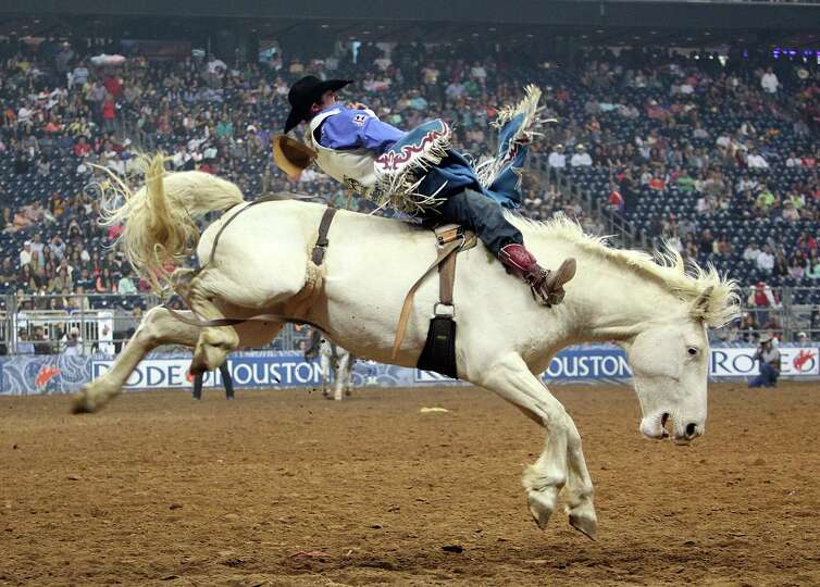 Kaycee Feild  competes in Bareback Riding during the BP Super Series Semifinals 2 at Reliant Stadium