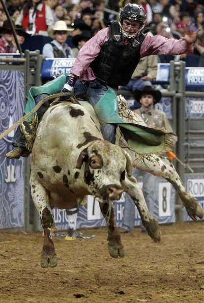 Clayton Foltyn competes in Bull Riding BP Super Series Semifinals 2 at Reliant Stadium on Thursday,
