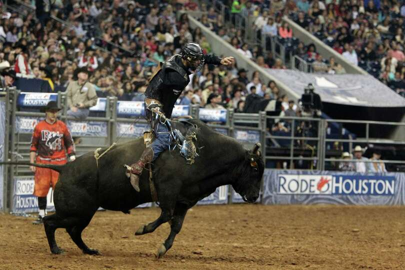 Boss Votaw competes in Bull Riding BP Super Series Semifinals 2 at Reliant Stadium on Thursday, Marc