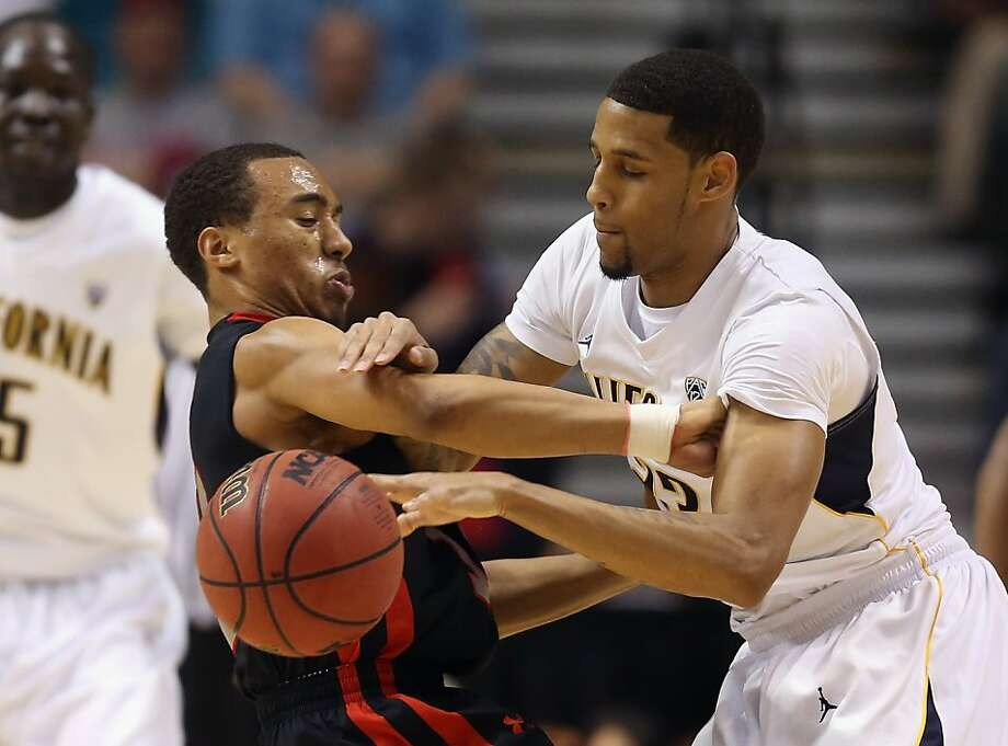LAS VEGAS, NV - MARCH 14:  Brandon Taylor #11 of the Utah Utes and Allen Crabbe #23 of the California Golden Bears fight for the ball in the first half during the quarterfinals of the Pac 12 Basketball Tournament at the MGM Grand Garden Arena on March 14, 2013 in Las Vegas, Nevada.  (Photo by Jeff Gross/Getty Images) Photo: Jeff Gross, Getty Images