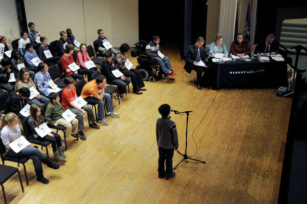The Hearst Media Services Spelling Bee is held at Western Connecticut State University in Danbury, Conn. Thursday, March 14, 2013. Photo: Carol Kaliff / The News-Times