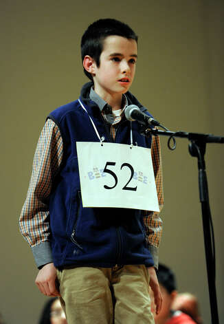 Colin Schissel of Danbury, competes in the  Hearst Media Services Spelling Bee is held at Western Connecticut State University in Danbury, Conn. Thursday, March 14, 2013. Photo: Carol Kaliff / The News-Times