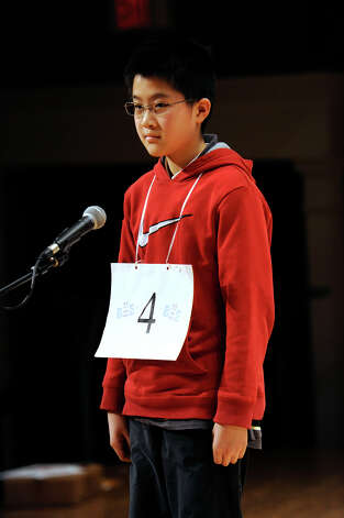 Kevin Fong of Danbury, Conn., competes in the Hearst Media Services Spelling Bee is held at Western Connecticut State University in Danbury, Conn. Thursday, March 14, 2013. Photo: Carol Kaliff / The News-Times