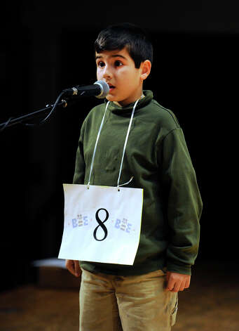 Aresh Pourkavoos of Avon, Conn., competes in the  Hearst Media Services Spelling Bee is held at Western Connecticut State University in Danbury, Conn. Thursday, March 14, 2013. Photo: Carol Kaliff / The News-Times