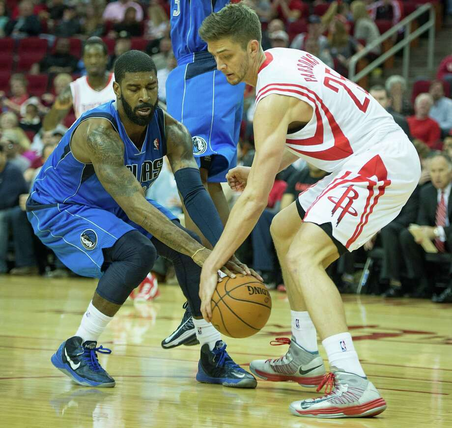 Chandler Parsons, right, said the Rockets must focus on defense early to hurt the other team's confidence. Photo: Smiley N. Pool, Staff / © 2013  Houston Chronicle