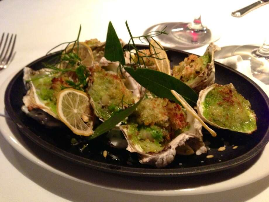 Oysters with fennel confit at El Paseo in Mill Valley