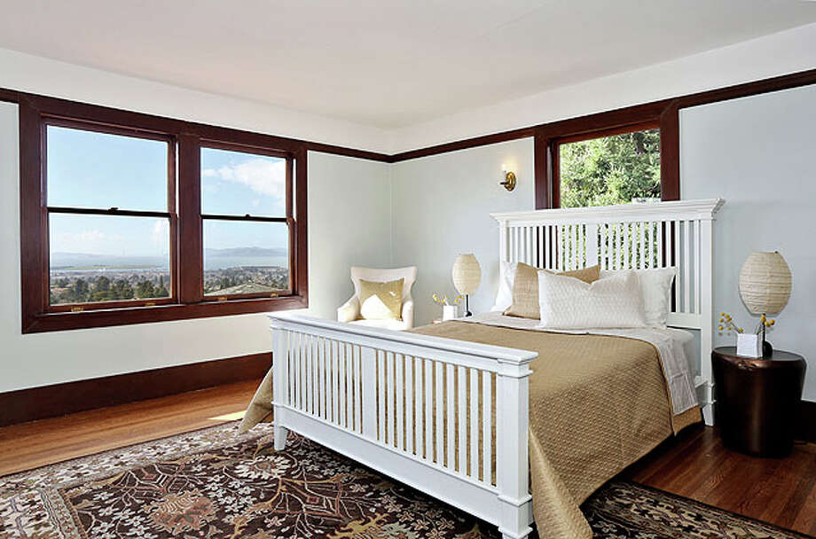 The master bedroom shows off views.