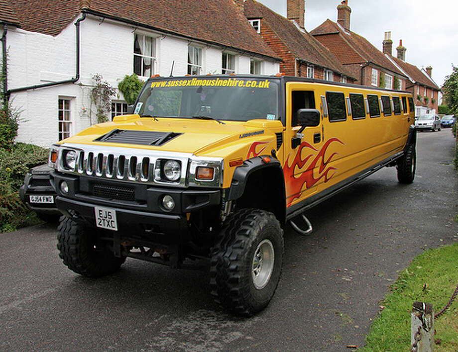 Hummer: Remember when Hummers were cool? Now that gasoline prices near $4, they just look a bit silly. A Hummer limo seems even more idiotic. (Photo: Exfordy, Flickr) Photo: Flickr