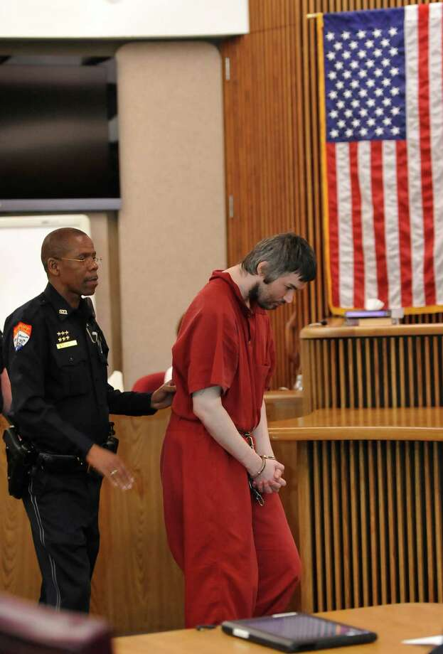 "John Wesley Nero, who has been charged with capital murder in the death of Police Officer Bryan Hebert, had an appearance in John Stevens Jr.,Criminal District courtroom Thursday morning March 14, 2013.   He plead ""no contest"" and received life in prison without parole. Dave Ryan/The Enterprise"