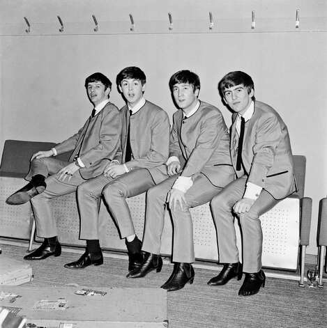 The Beatles backstage at Fairfield Halls, Croydon in April 1963. The Beatles played two shows at the venue that day as part of a 'Merseybeat Showcase'. On the same bill were Gerry And The Pacemakers, The Big Three, Billy J Kramer With The Dakotas and John Leyton. Photo: Andy Wright, Getty Images / 2012 Andy Wright