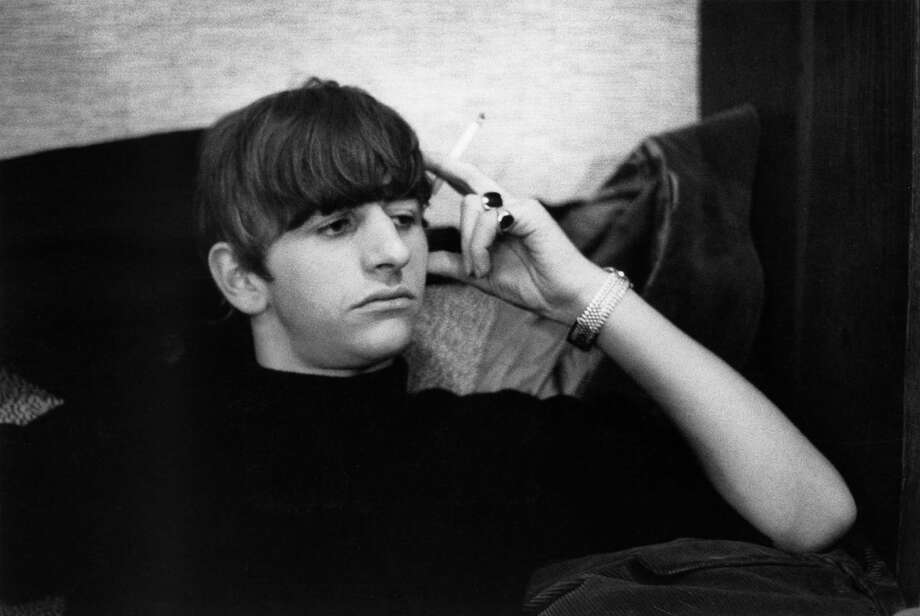 Ringo Starr from The Beatles posed backstage at the Finsbury Park Astoria, London during the band's Christmas Show residency in December 1963. Photo: Val Wilmer, Getty Images / Redferns