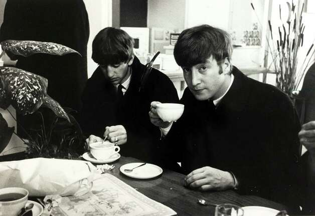 The Beatles in the buffet at Stockholm airport after the Beatles hectic eight day visit to Sweden Photo: Popperfoto, Getty Images / Popperfoto