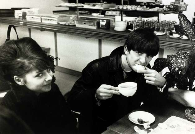 George Harrison having breakfast in the buffet at Stockholm airport. Photo: Popperfoto, Getty Images / Popperfoto