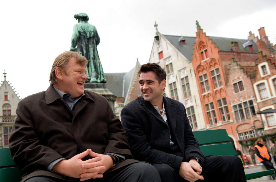 Colin Farrell, right, and  Brendan Gleeson in a scene from In Bruges. Photo: Jaap Buitendijk, AP / Focus Features