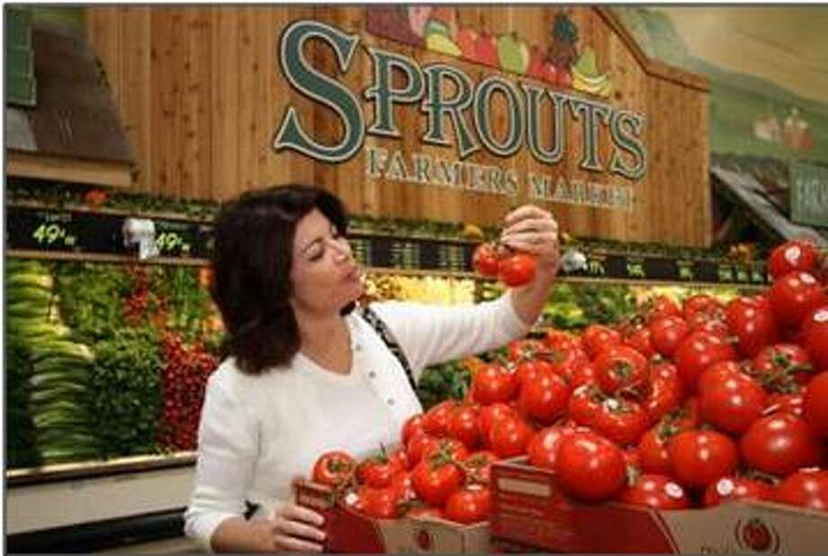 An example of the interior of a Sprouts Farmers Market. The first of five planned Houston-area locations will open at 23105 Cinco Ranch Blvd. offering an array of organic and fresh foods. It will be the chain's 24th store in Texas when it opens March 27.