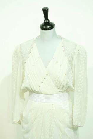 Also up for auction is a  Zandra Rhodes White Chiffon worn at the London Palladium in May 1997. Photo: Simon Burchell, Getty Images / 2013 Getty Images
