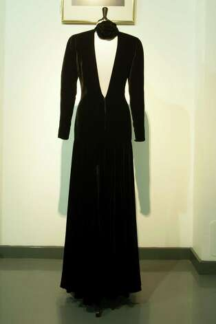 Also up for auction is a Bruce Oldfield black velvet gown worn for a Lord Snowdon Portrait 1985. Photo: Simon Burchell, Getty Images / 2013 Getty Images