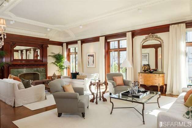 Grand living room. All photos via Sotheby's/MLS.