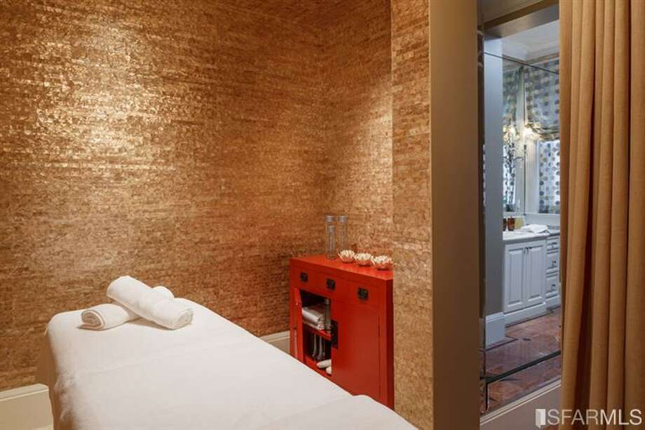 Massage room. All photos via Sotheby's/MLS.