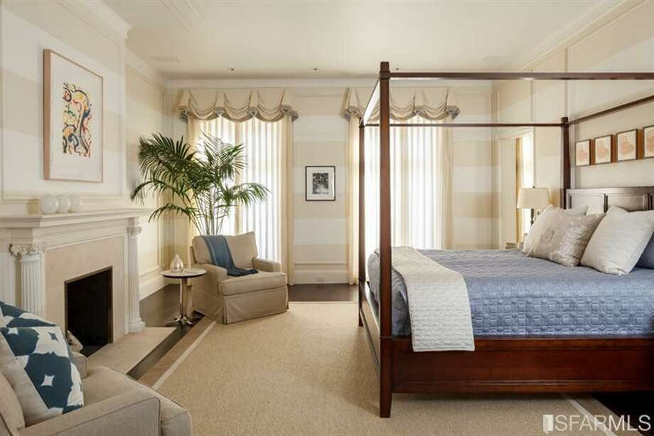 One of many bedrooms. All photos via Sotheby's/MLS.