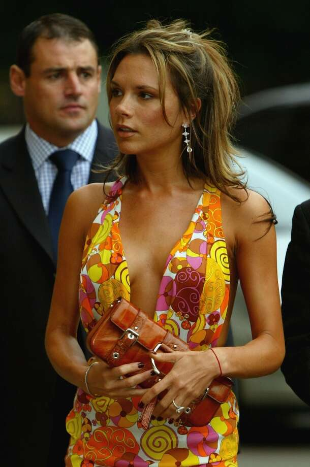 Victoria Beckham attends the press night for the English National Ballet's performance of Swan Lake at the Royal Albert Hal on June 9, 2004 in London. Photo: Bruno Vincent, Getty Images / 2004 Getty Images