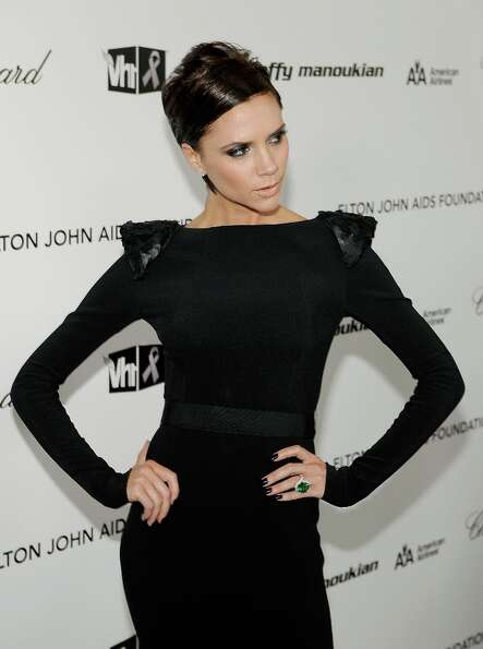 Victoria Beckham arrives at the 17th Annual Elton John AIDS Foundation Oscar party held at the Pacif