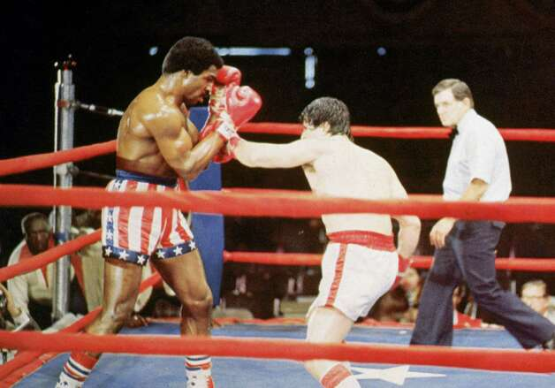 Rocky strikes back against Champion Apollo Creed in 'Rocky.' Photo: Hulton Archive, Getty Images / Archive Photos