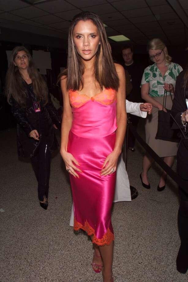Victoria Beckham during 2000 VH1 Vogue Fashion Awards - Arrivals at Madison Square Garden in New York City, New York, United States. Photo: KMazur, WireImage / WireImage