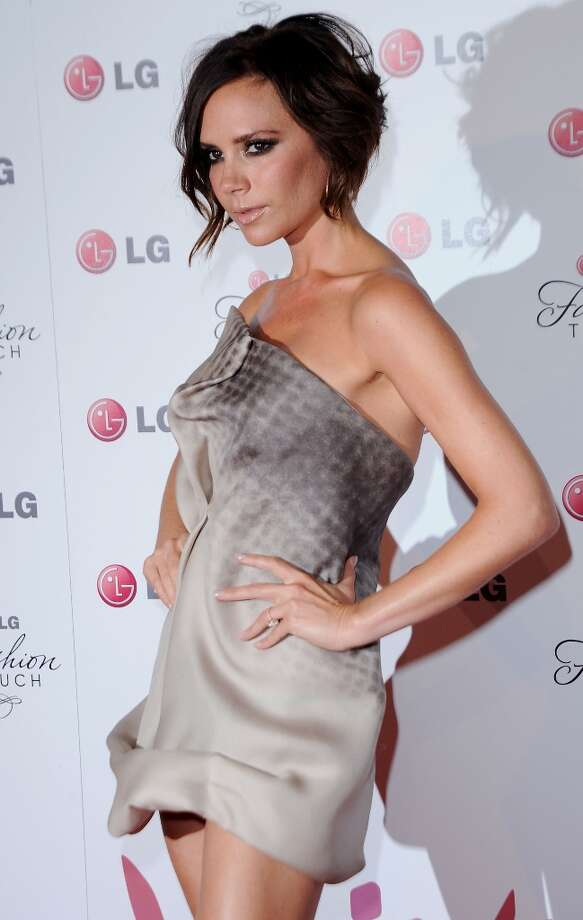 Singer Victoria Beckham arrives at Victoria Beckham And Eva Longoria Parker Host New LG Phones Launch Partyat Soho House on May 24, 2010 in West Hollywood, California. Photo: Jon Kopaloff, FilmMagic / 2010 Jon Kopaloff