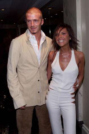 David and Victoria Beckham arrive at the Silver Clef Awards held at the Intercontinental Hotel on May 23, 2001 in London. Photo: Dave Hogan, Getty Images / 2001 Getty Images