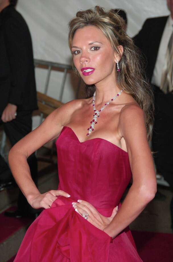 Victoria Beckham during AngloMania Costume Institute Gala at The Metropolitan Museum of Art - Departures. Celebrating AngloMania: Tradition and Transgression in British Fashion, an exhibition at The Metropolitan Museum of Art, May 3 - September 4, 2006 at The Metropolitan Museum of Art in New York City, New York, United States. Photo: Michael Loccisano, FilmMagic / FilmMagic