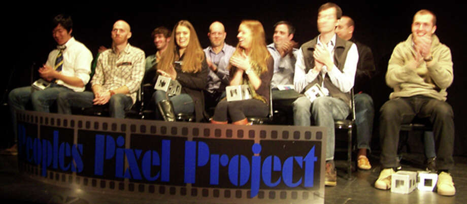 Peoples Pixal Project winners on stage at the Wood Theater, April 1, 2012. (http://www.lakegeorgearts.org)