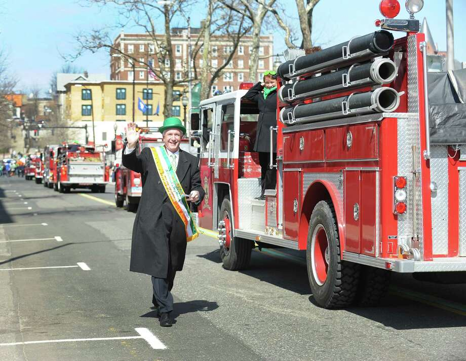 Mayor Bill Finch at the annual St. Patrick's Day parade in downtown Bridgeport, Conn. on Friday March 15, 2013. Photo: Cathy Zuraw / Connecticut Post