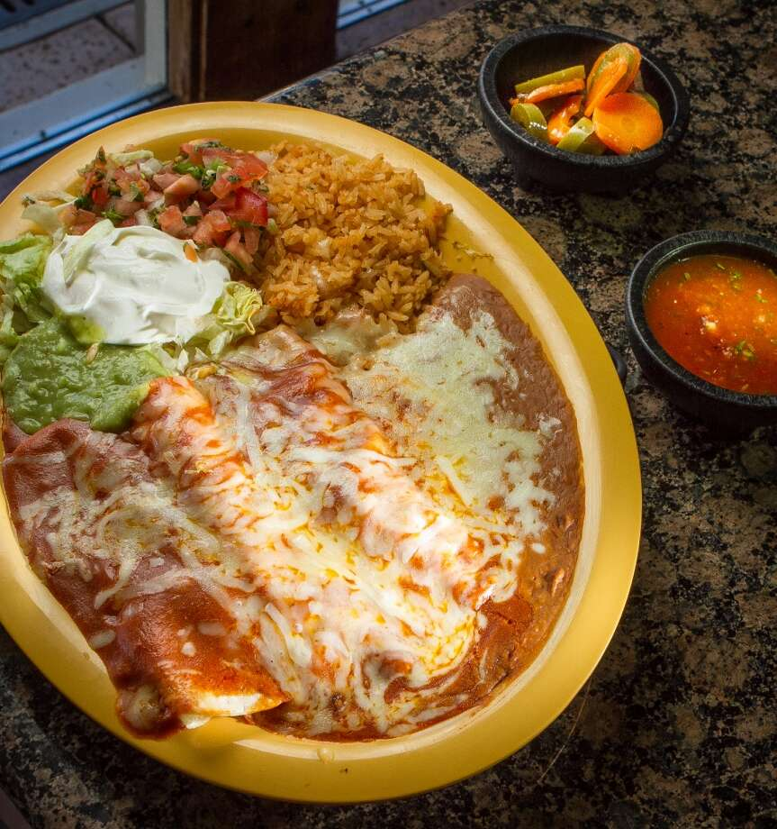 The Chili Relleno plate at Los Gallos Taqueria in Redwood City.