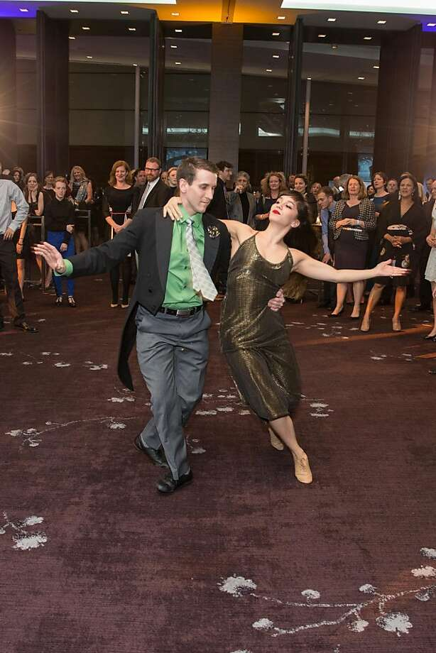 Performers entertain guests during ODC's Dance Downtown Opening Night Gala on March 14, 2013. Photo: Drew Altizer Photography
