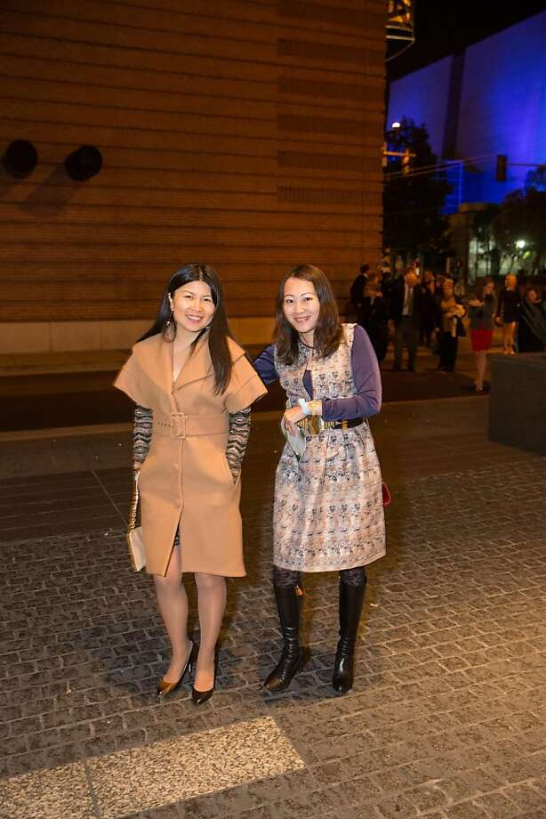 Sally Yu and Halena Au at ODC's Dance Downtown Opening Night Gala on March 14, 2013. Photo: Drew Altizer Photography