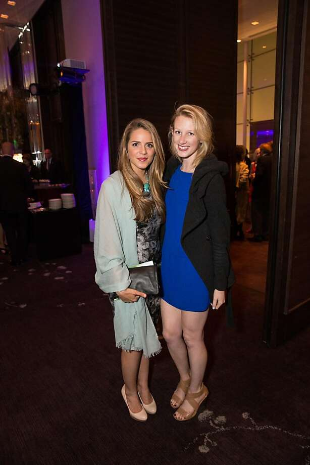 Julia Engel and Jami Bogards at ODC's Dance Downtown Opening Night Gala on March 14, 2013. Photo: Drew Altizer Photography
