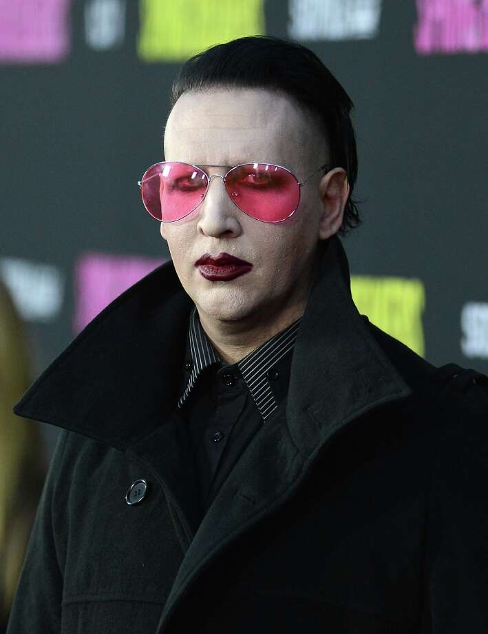 Singer Marilyn Manson attends the 'Spring Breakers' premiere at ArcLight Cinemas on March 14, 2013 in Hollywood, California. Photo: Jason Merritt, Getty Images / 2013 Getty Images