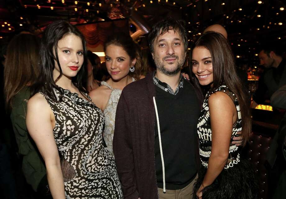 Actresses Rachel Korine, Ashley Benson, Writer/director Harmony Korine and actress Vanessa Hudgens attend the Spring Breakers premiere after party at The Emerson Theatre on March 14, 2013 in Hollywood, California. Photo: Christopher Polk, Getty Images / 2013 Getty Images