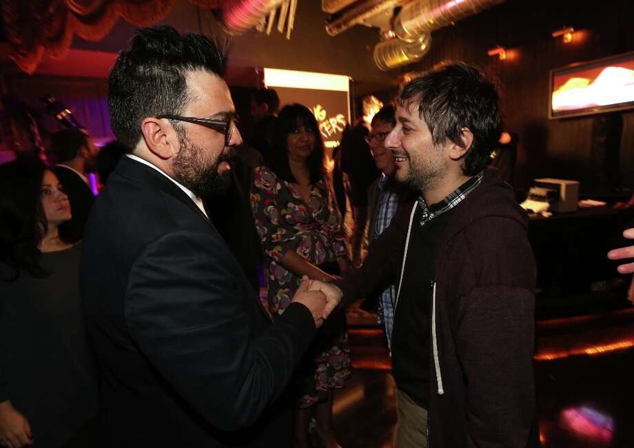 Actor Horatio Sanz and Writer/Director Harmony Korine attend the Spring Breakers premiere after party at The Emerson Theatre on March 14, 2013 in Hollywood, California. Photo: Christopher Polk, Getty Images / 2013 Getty Images
