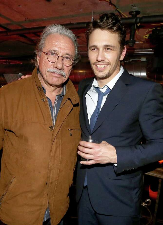 Actors Edward James Olmos and James Franco attend the Spring Breakers premiere after party at The Emerson Theatre on March 14, 2013 in Hollywood, California. Photo: Christopher Polk, Getty Images / 2013 Getty Images