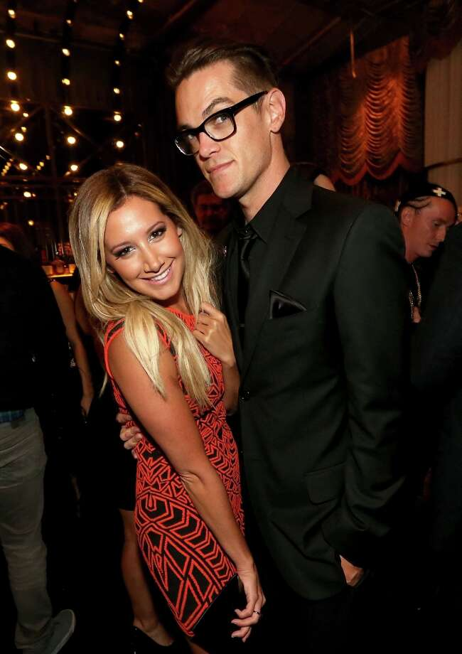 Actress Ashley Tisdale and Christopher French attend the Spring Breakers premiere after party at The Emerson Theatre on March 14, 2013 in Hollywood, California. Photo: Christopher Polk, Getty Images / 2013 Getty Images
