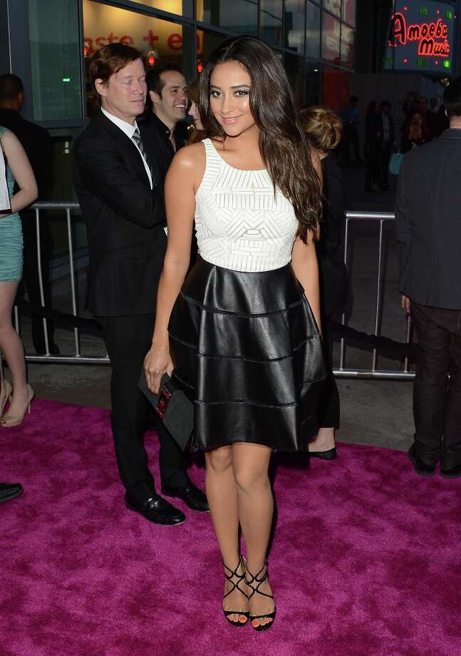 Actress Shay Mitchell attends the 'Spring Breakers' premiere at ArcLight Cinemas on March 14, 2013 in Hollywood, California. Photo: Jason Merritt, Getty Images / 2013 Getty Images
