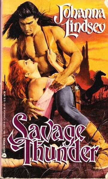 Savage Thunder by Johanna Lindsey. Purchase it